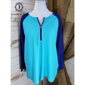 Lauren Ralph Lauren Blue and Teal Sports Shirt